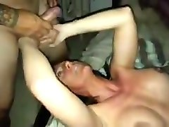 Hubby gets huge cock to fuck his mature slutwife