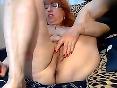lusty nerdy and awful chubby granny was ready for some steamy solo