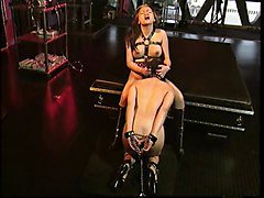 Asian BDSM slut nipples clamped and slut bound