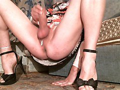 Stroking Clit Bare Legs Spread 2