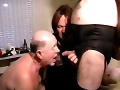 old man with crossdressers. daddy drink piss and cum