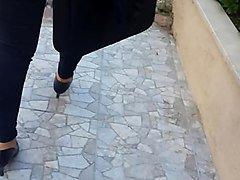 turkish bitch black lace pantie ass walk