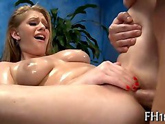 lewd and oily massage session