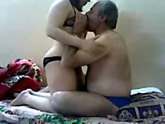 mature fat dude enjoying his playful paki milf wifey