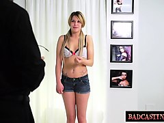 shy mia strips for casting tryout