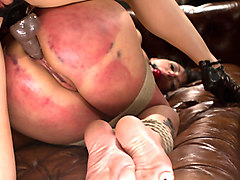 Exotic fisting, fetish adult video with hottest pornstars Roxanne Hall and Ashley Fires from Whippedass