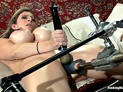 Home Alone MILF:  Double Vag Machine Fucking