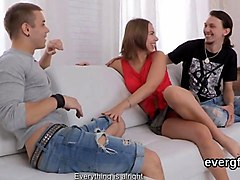 dirt poor stud allows foxy buddy to bang his exgf for hard cash