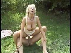 Mature secretary and her college girl boss play during luch hour!