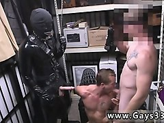 straight porno men go gay dungeon master with a gimp