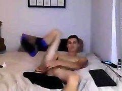 Cute Gay Boy Fucks His Sweet Ass With A Dildo On Cam