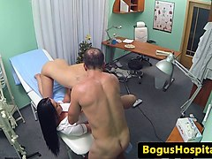 doctor pussypounds nurse in threeway