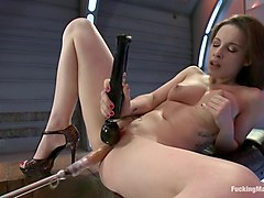 Via The Puss! Hot Frenchie Machine Fucked till She SQUIRTS